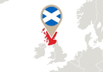 Scotland on Europe map
