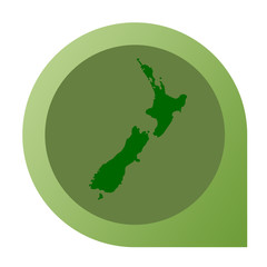 Isolated New Zealand map marker pin