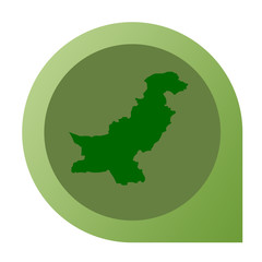 Isolated Pakistan map marker pin
