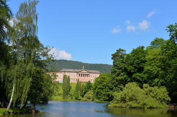 Das Schloss Wilhelmshöhe im Bergpark in Kassel Wilhelmshöhe