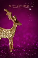 Tierische Weihnachtsgrüße in pink und gold
