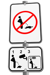 don't pee sign