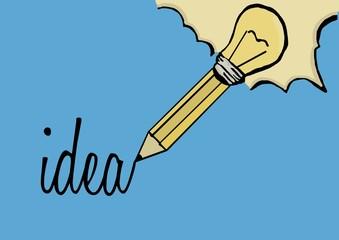 Idea with pencil