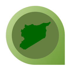 Isolated Syria map marker pin