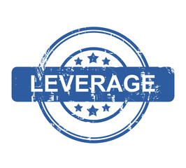 Leverage business concept stamp
