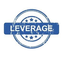 Leverage business concept stamp