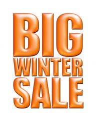Big Winter Sale text in orange on white background.