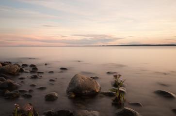 Swedish coastline a warm summers day