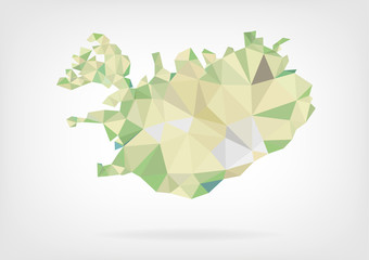 Low Poly Map of Iceland