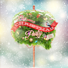 Christmas fir tree - Bubble for speech. EPS 10