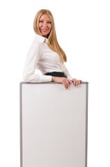 Businesswoman isolated on the white background