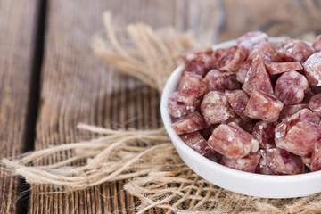 Portion of Mini-Salamis