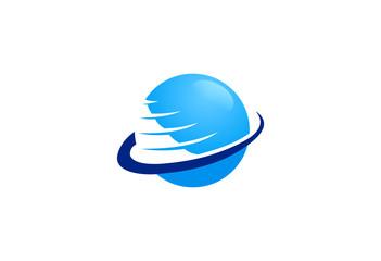 globe sphere orbit vector logo