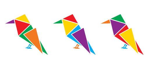 Geometric color birds