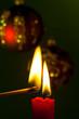 canvas print picture - Flamme einer Kerze