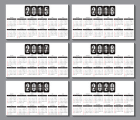 calendar grid  for business card