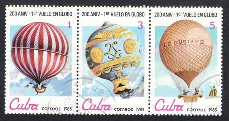 Почтовые марки Куба 1983 год воздушный шар