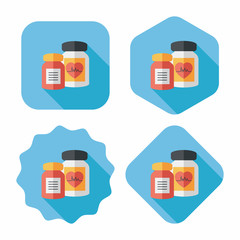 supplements drug flat icon with long shadow,eps10