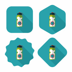 sports water bottle flat icon with long shadow,eps10