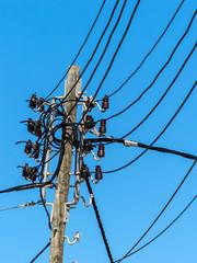 Stromleitung auf Mallorca