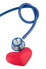 Stethoskop und ein Herz,