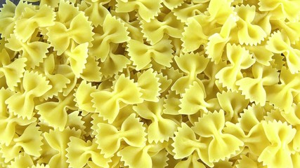 Portion of Bow-Tie Pasta (seamless loopable 4K UHD footage)