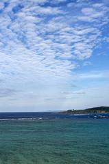 今帰仁村から見える古宇利島