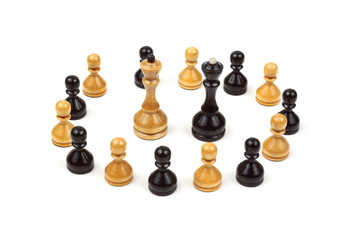 Chess Pawns isolated on white
