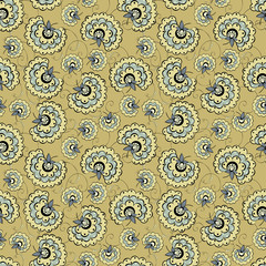 Romantic vintage flower seamless pattern