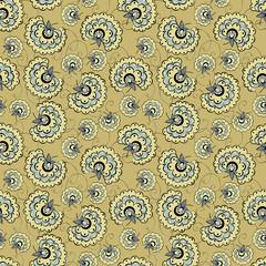 Romantic vintage flower seamless pattern