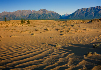 Chara sands and Mountains in Eastern Siberia