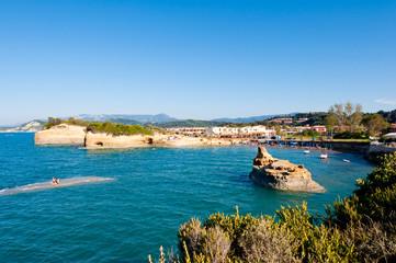 Famous Sidary beach on the island of Corfu, Greece.