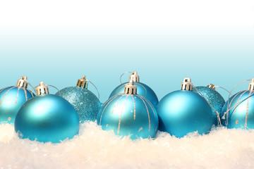 Weihnachten Weihnachtshintergrund Kugeln Schnee