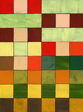 a collage of painted squares
