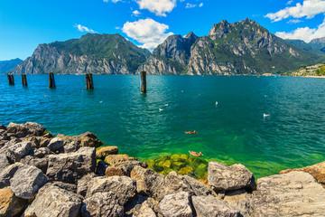 The beautiful Lake Garda near Torbole resort town,Italy,Europe