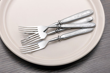 Forks in a Plate