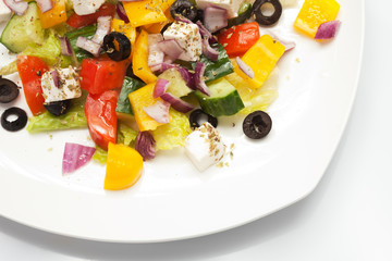 Greek Salad, closeup shot