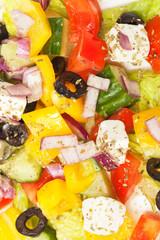 Greek Salad, closeup shot