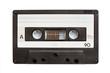 Leinwanddruck Bild - Audiio cassette tape isolated on white background