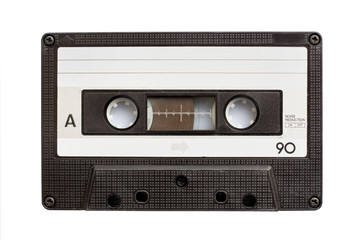 Audiio cassette tape isolated on white background
