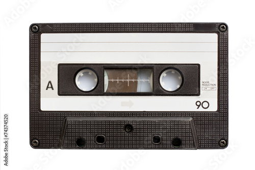 Audiio cassette tape isolated on white background - 74374520