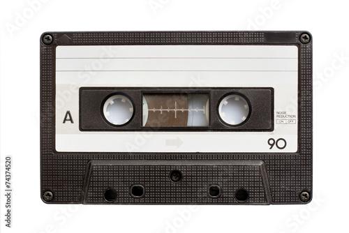 Leinwanddruck Bild Audiio cassette tape isolated on white background