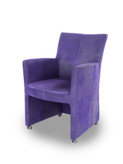Purple leather dining room chair