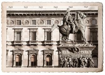 vecchia fotografia di Milano
