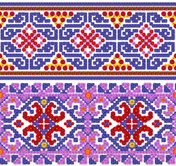 National pattern for the Ukrainian shirt
