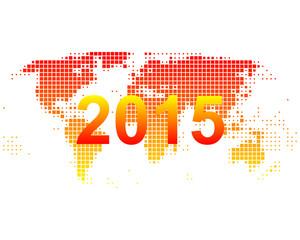 Weltkarte 2015