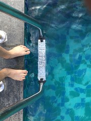 my feet and swimming pool