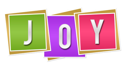Joy Colorful Blocks