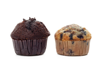 Muffins in paper baking cup