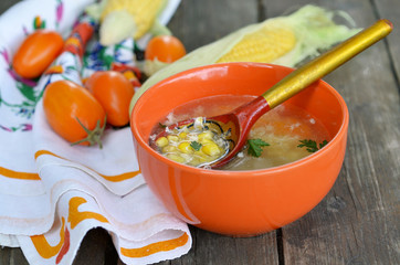 soup with corn